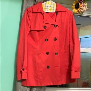 Forever 21 XXI Coral Button Down Light Trench Coat